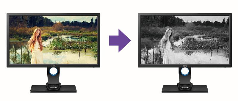 BENQ SW2700PT - specjalny tryb pracy dla fotografii czarno-białej