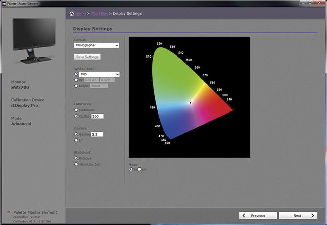 BENQ SW2700PT - autorskie oprogramowanie Palette Master Element
