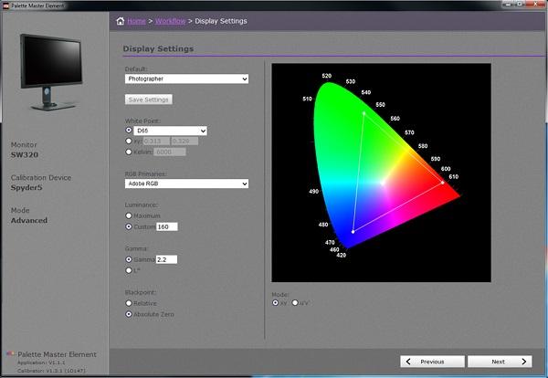 SW320 - dołączone oprogramowanie do kalibracji sprzętowej