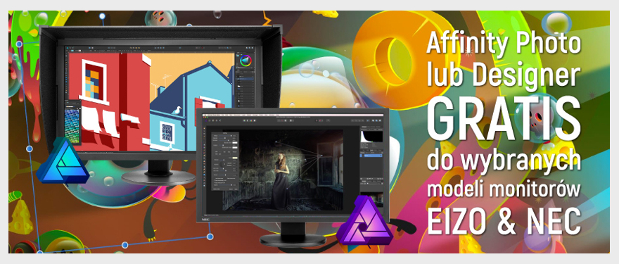 EIZO ColorEdge CG277 + Gratis Affinity Photo lub Designer