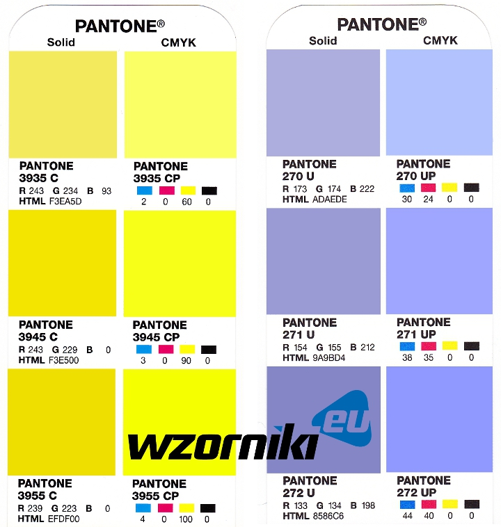 pantone plus color bridge powlekane i niepowlekane pantone. Black Bedroom Furniture Sets. Home Design Ideas