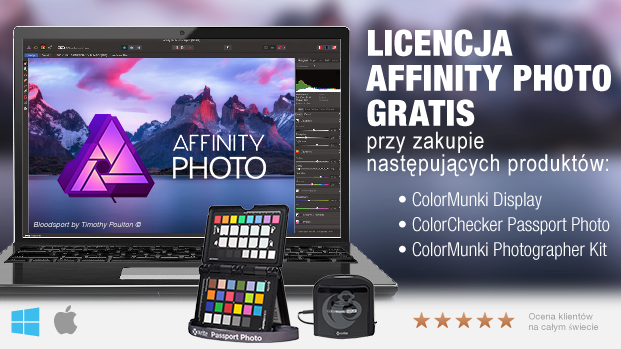 Affinity Photo Gratis z X-Rite